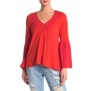 Free People Parisian Nights Top Vermillion Small